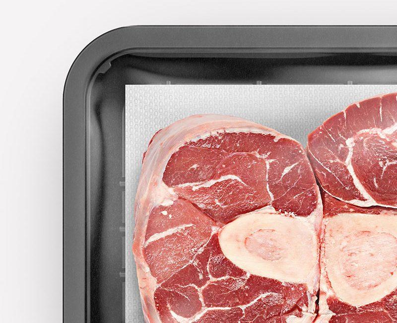 Dettaglio Meatpad, assorbente alimentari mantiene intatta la freschezza della carne - MAGIC